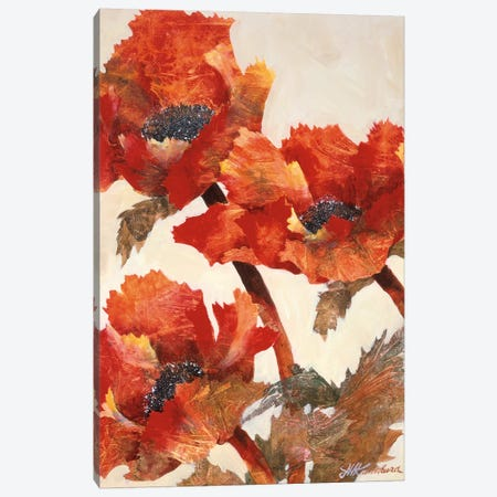 Poppies II Canvas Print #JKA3} by Joyce Kamikura Canvas Art Print