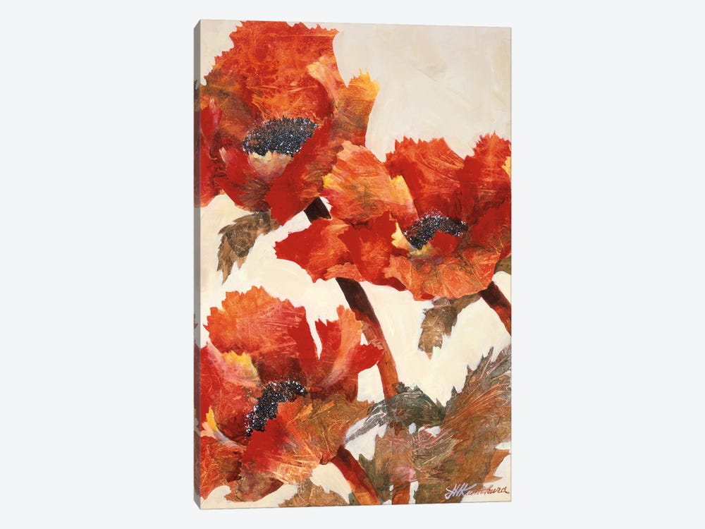 Poppies II by Joyce Kamikura 1-piece Canvas Art Print