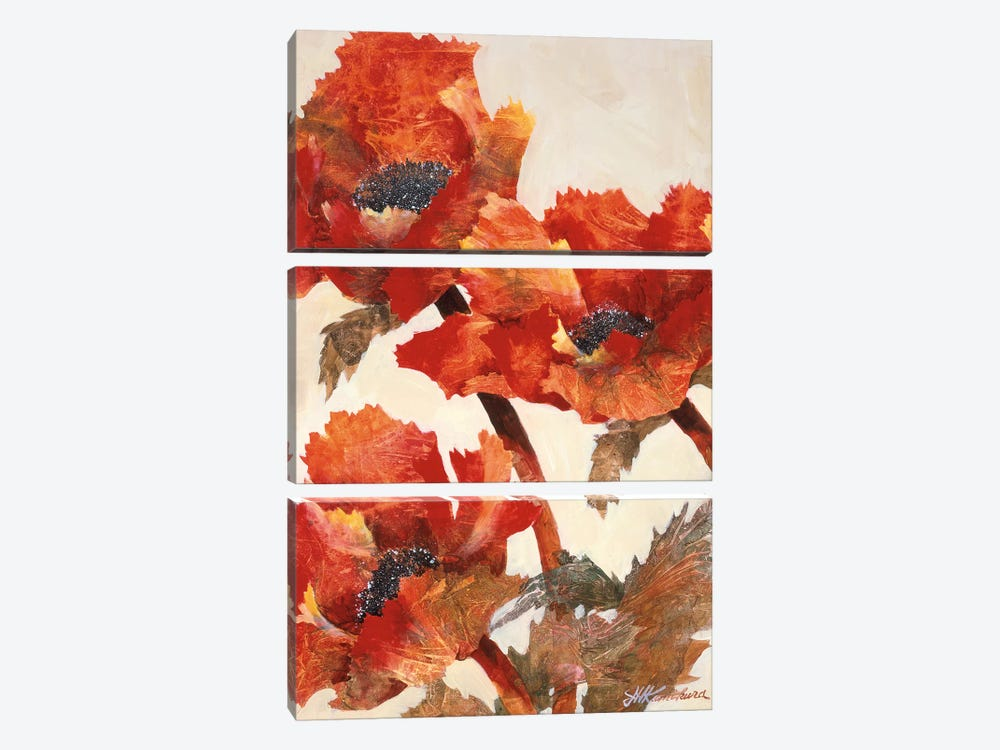 Poppies II by Joyce Kamikura 3-piece Canvas Art Print