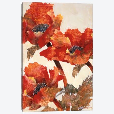 Poppies II 3-Piece Canvas #JKA3} by Joyce Kamikura Canvas Art Print