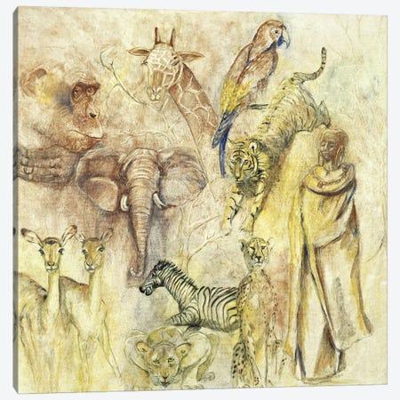 Wild Animals Canvas Print #JKE1} by Marijke Cruysberg Canvas Print