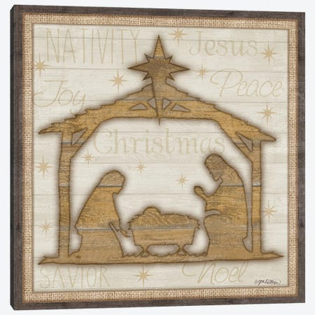 Rustic Nativity Canvas Print #JKI10} by Jen Killeen Canvas Print