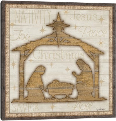 Rustic Nativity Canvas Art Print