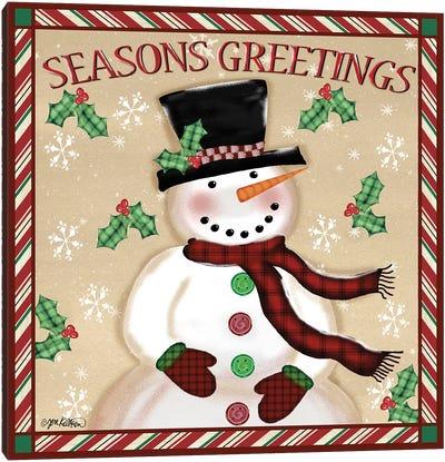 Season's Greetings Snowmen I Canvas Art Print