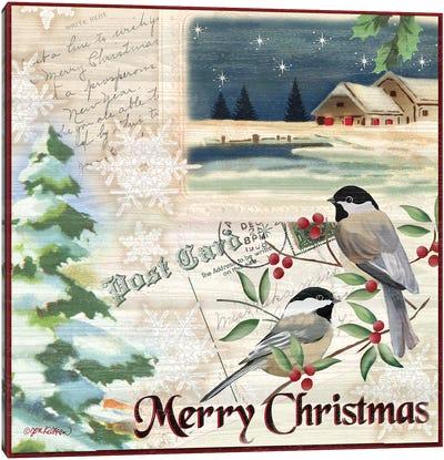 Vintage Christmas Postcard II Canvas Art Print