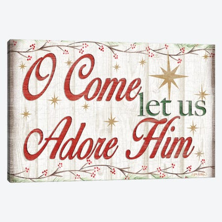 Adore Him Holy Night I Canvas Print #JKI1} by Jen Killeen Art Print
