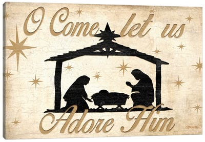 Adore Him Nativity Canvas Art Print