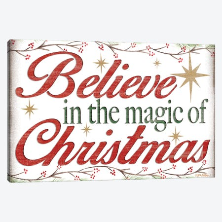 Believe in the Magic Canvas Print #JKI6} by Jen Killeen Canvas Art