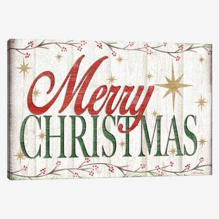 Merry Christmas Canvas Print #JKI8} by Jen Killeen Canvas Print