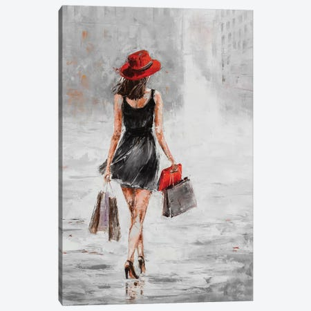 City Shopping I Canvas Print #JKO1} by Jolanta Kowalik Art Print