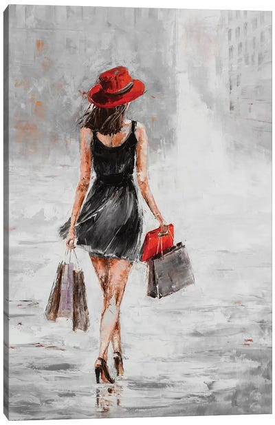 City Shopping I Canvas Art Print