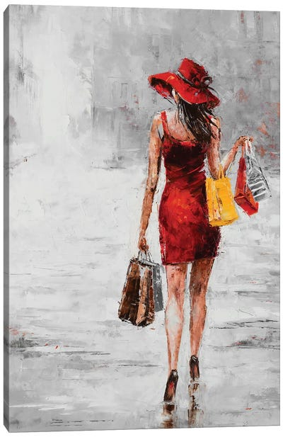 City Shopping II Canvas Art Print