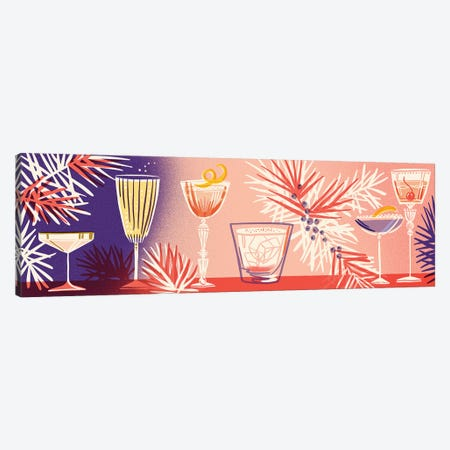 Winter Cocktails Canvas Print #JKY24} by Jordan Kay Art Print