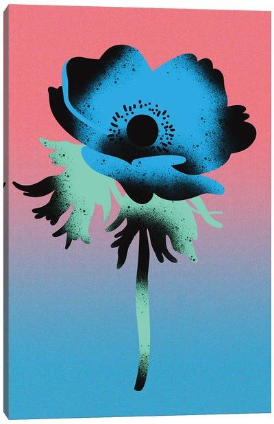 Blue Anemone Blossom Canvas Art Print