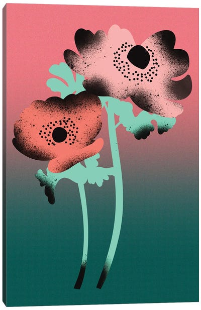 Anemone Flowers Canvas Art Print