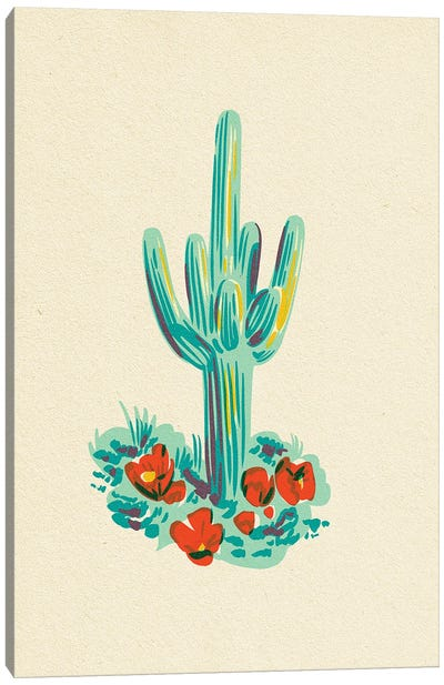 Saguaro Cactus Canvas Art Print