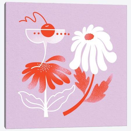 Cocktail & Daisy Canvas Print #JKY31} by Jordan Kay Canvas Art Print