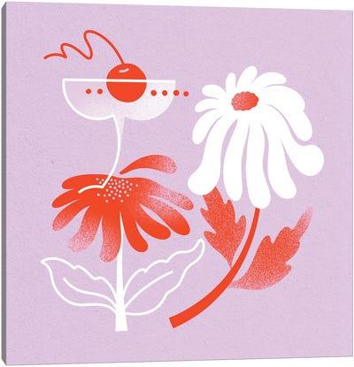 Cocktail & Daisy Canvas Art Print
