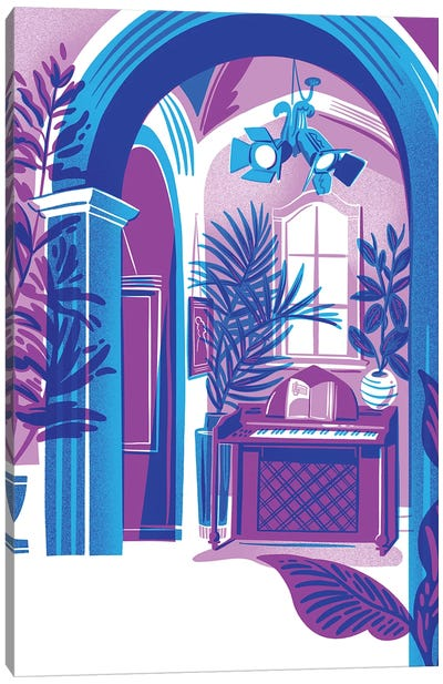Blue Interior Canvas Art Print