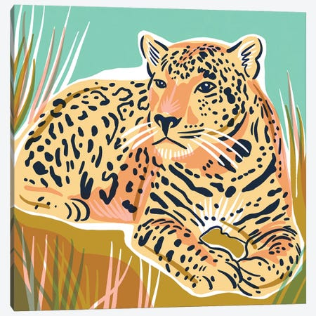 Cheetah Canvas Print #JKY6} by Jordan Kay Art Print