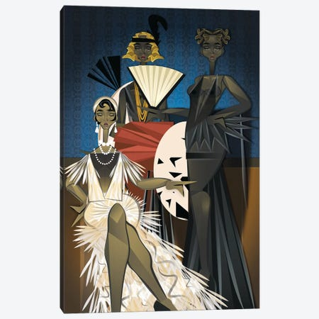 Harlem Nights Canvas Print #JLC2} by Jaleel Campbell Canvas Wall Art