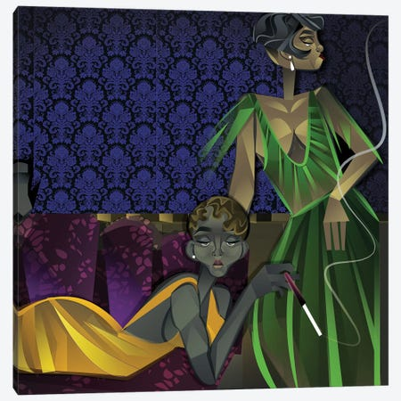 Two Women Canvas Print #JLC5} by Jaleel Campbell Canvas Print