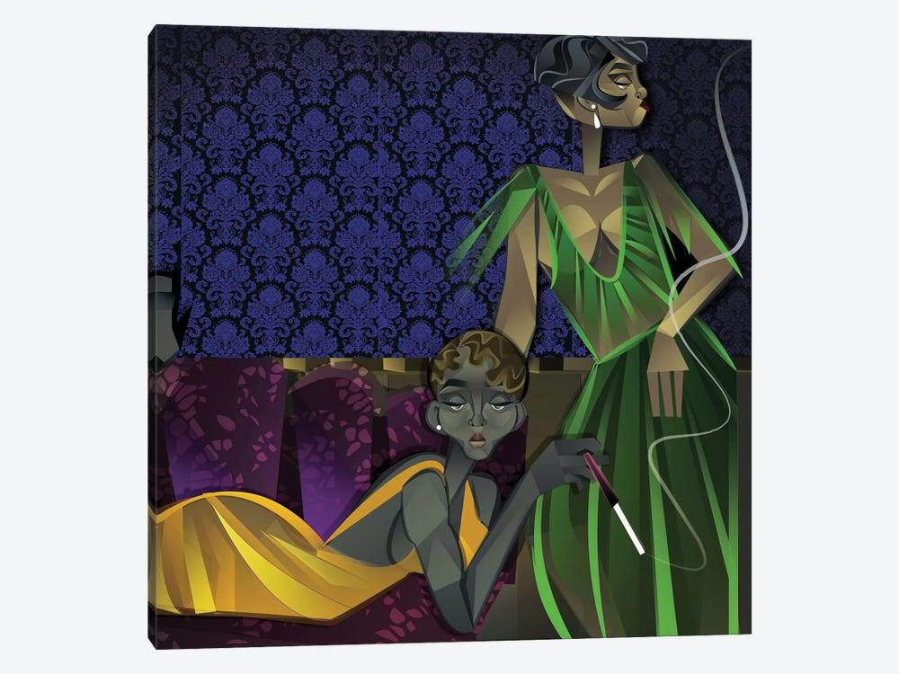 Two Women by Jaleel Campbell 1-piece Canvas Artwork