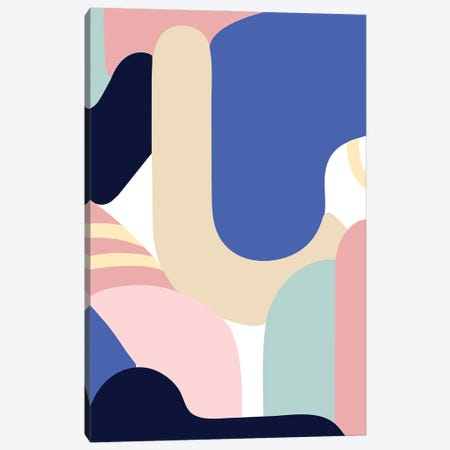Blue Monday Canvas Print #JLD2} by Jilli Darling Canvas Print