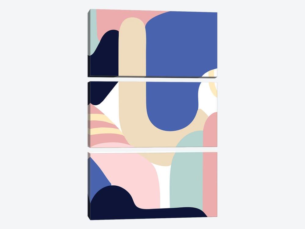 Blue Monday by Jilli Darling 3-piece Canvas Art