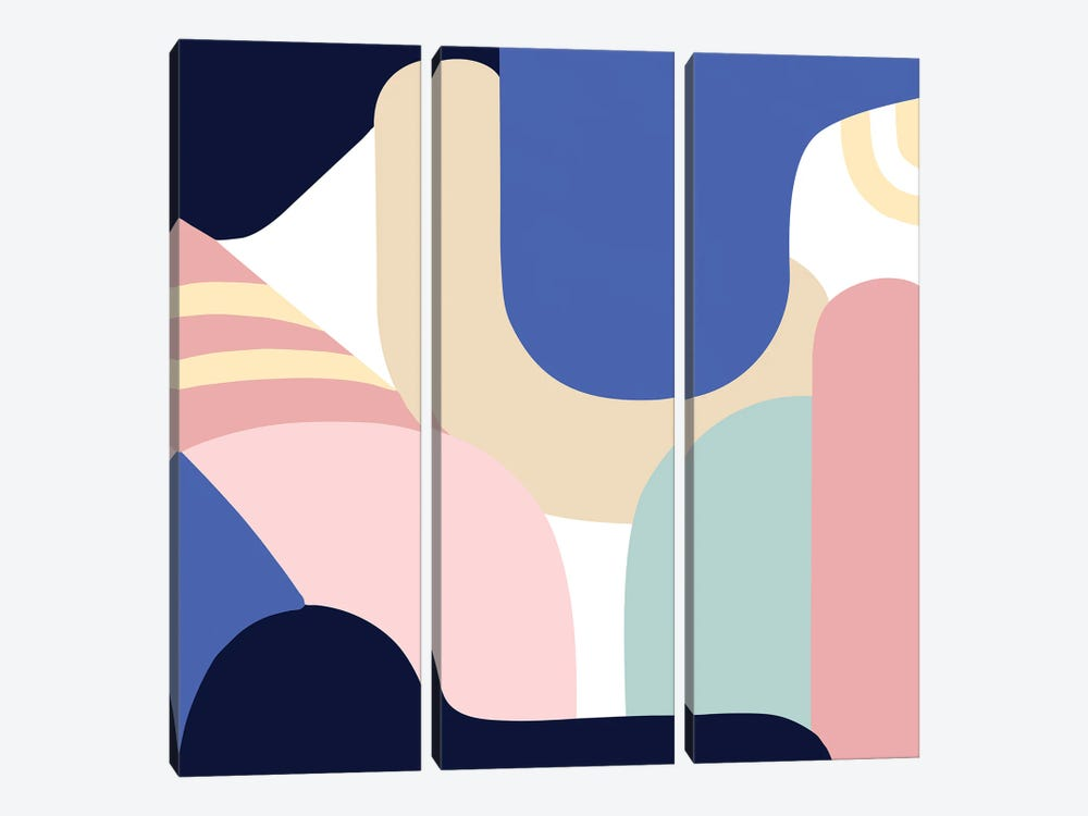 Blue Monday II by Jilli Darling 3-piece Art Print