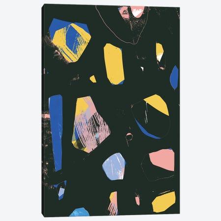 Rocks In Black Canvas Print #JLD50} by Jilli Darling Art Print