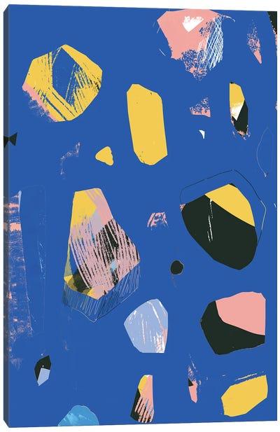 Rocks In Blue Canvas Art Print