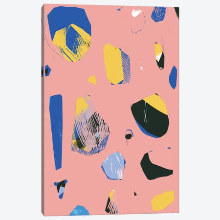 Rocks In Pink Canvas Print #JLD52} by Jilli Darling Canvas Print