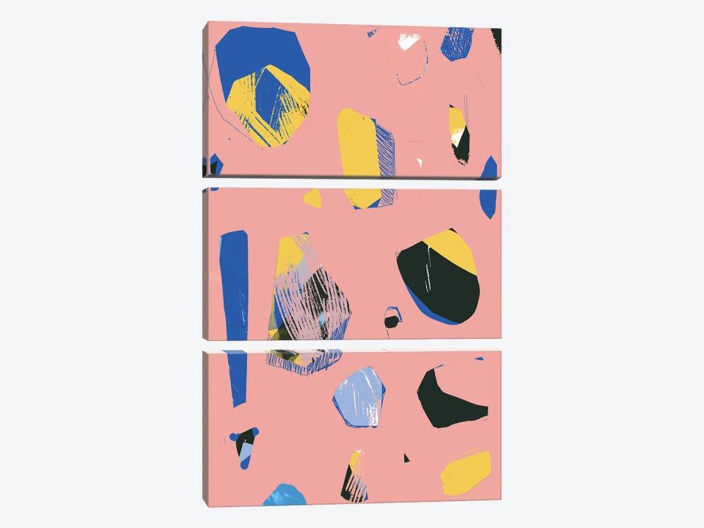 Rocks In Pink by Jilli Darling 3-piece Canvas Artwork