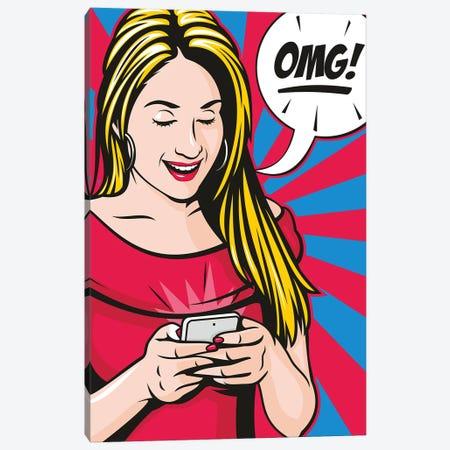 Omg! Canvas Print #JLE100} by James Lee Canvas Print