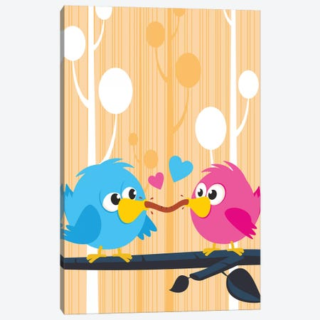 Lovebirds Canvas Print #JLE101} by James Lee Canvas Art Print