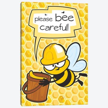 Please Bee Careful Canvas Print #JLE104} by James Lee Canvas Art