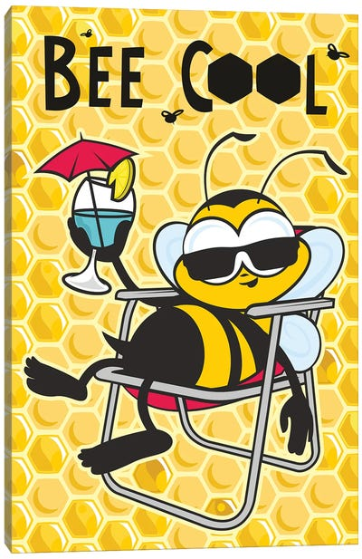 Bee Cool Canvas Art Print