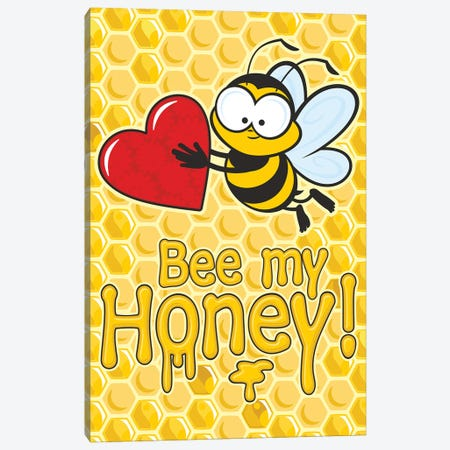 Bee My Honey Canvas Print #JLE106} by James Lee Canvas Art