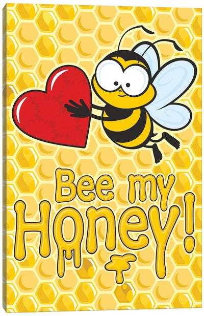 Bee My Honey Canvas Art Print