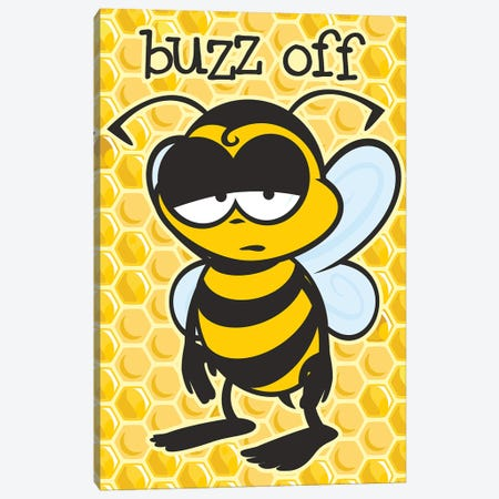 Buzz Off Canvas Print #JLE107} by James Lee Canvas Artwork