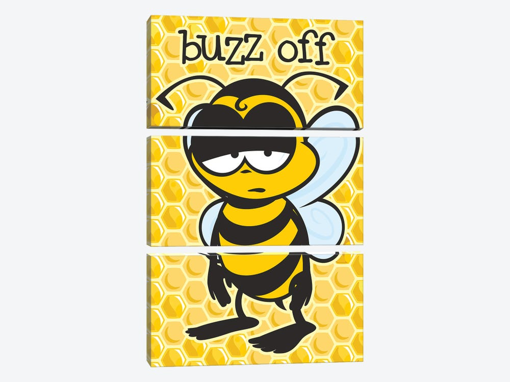 Buzz Off by James Lee 3-piece Canvas Wall Art