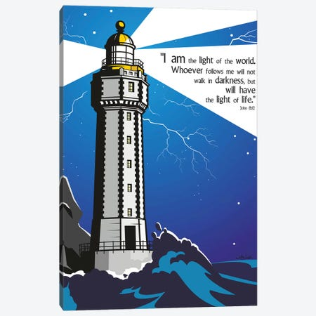I Am The Light Of The World Canvas Print #JLE109} by James Lee Canvas Art Print