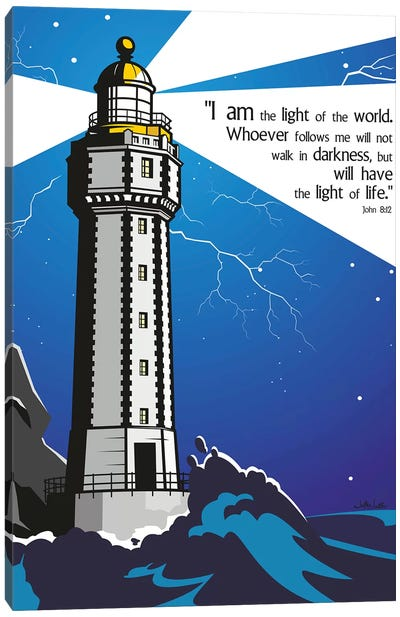 I Am The Light Of The World Canvas Art Print