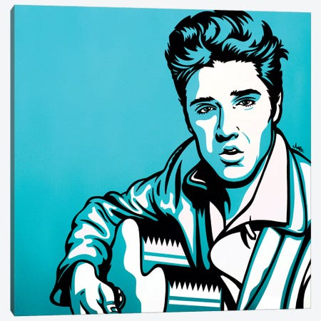 Elvis Canvas Print #JLE10} by James Lee Canvas Art