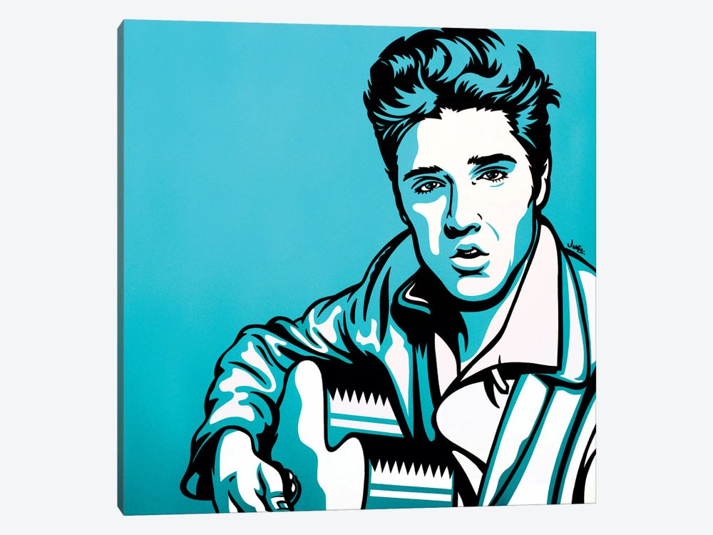 Elvis by James Lee 1-piece Canvas Art Print