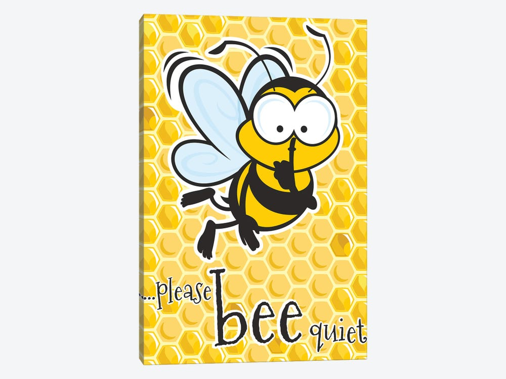 Please Bee Quiet 1-piece Canvas Wall Art