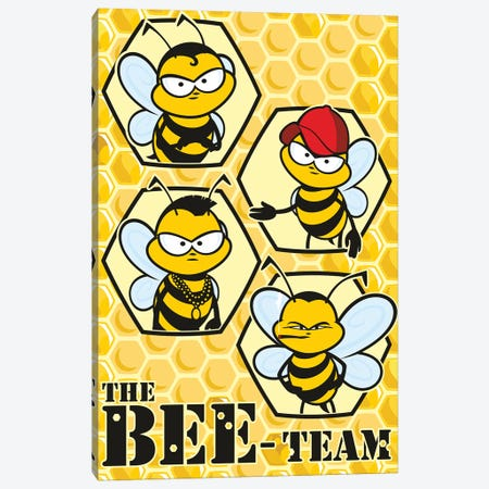 The Bee Team Canvas Print #JLE112} by James Lee Canvas Artwork
