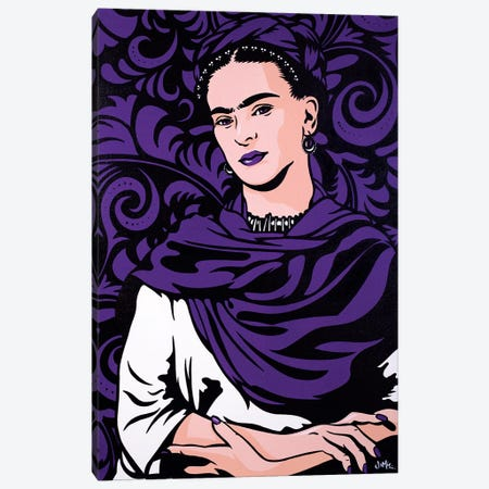 Frida Kahlo Lost In The Flowers Canvas Print #JLE11} by James Lee Canvas Wall Art