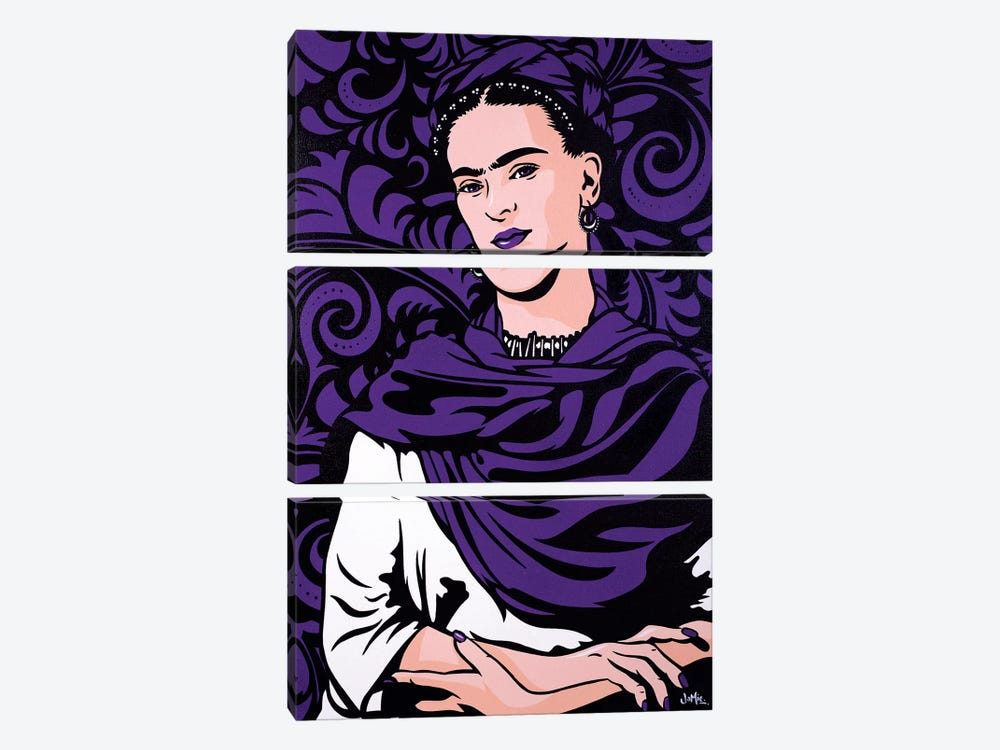 Frida Kahlo Lost In The Flowers 3-piece Canvas Wall Art
